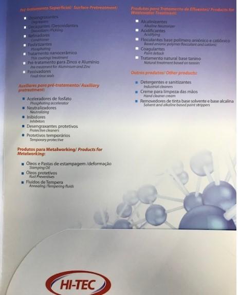 Produtos químicos para tratamento de efluentes